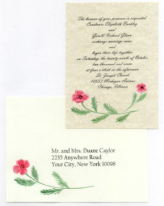 floral painted stationery
