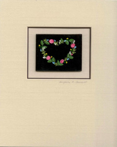 Floral Heart matted
