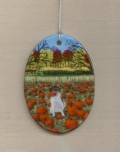 Hawkeye in the Pumpkin Patch ornament