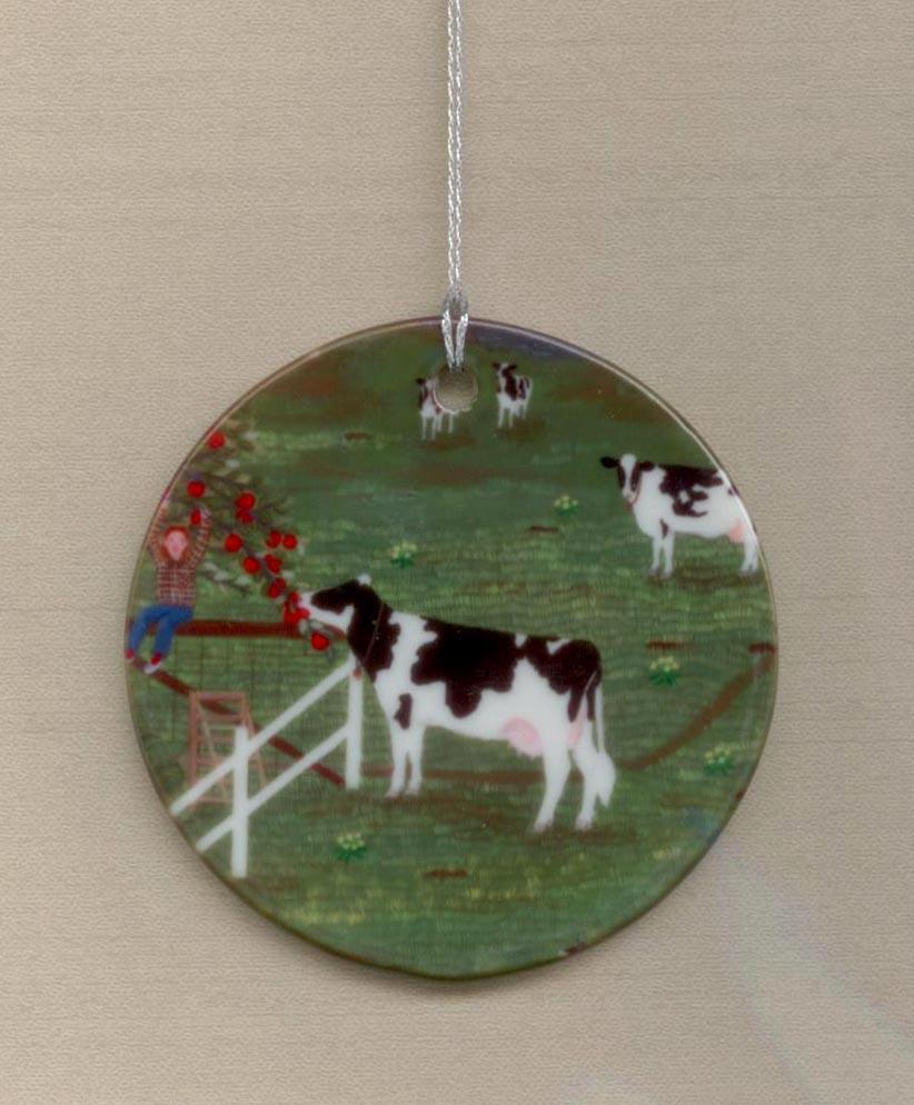 Holstein Helper ornament