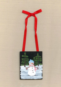 Snowman Red Striped Scarf ornament.jpeg 100