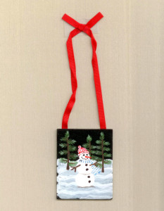 Snowman ornament 100