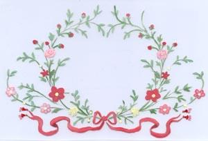 ribbon floral border aunan