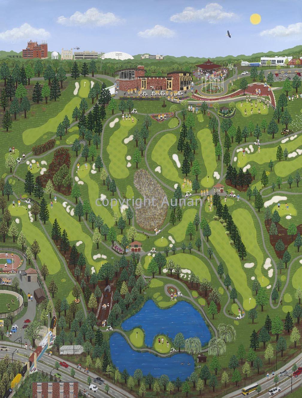 """Finkbine Golf Course"" Iowa City, Iowa - Finkbine Golf Course"