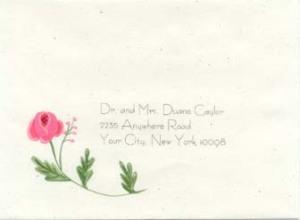 folk flower envelope stationery aunan