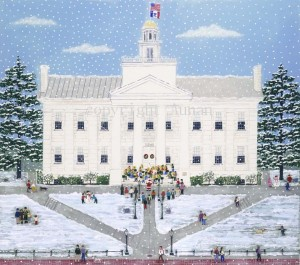 Snowy Old Capitol